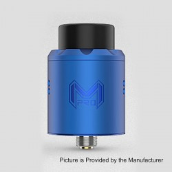 Authentic Digiflavor Mesh Pro RDA Rebuildable Dripping Atomizer w/ BF Pin - Blue, Stainless Steel, 25mm Diameter