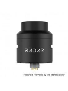 Authentic GeekVape Radar RDA Rebuildable Dripping Atomizer w/ BF Pin - Black, Stainless Steel, 24mm Diameter