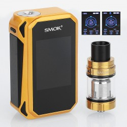 Authentic SMOKTech SMOK G-Priv 2 230W TC VW Box Mod + TFV8 X-Baby Tank Standard Kit - Gold Black, 1~230W, 4ml, 2 x 18650