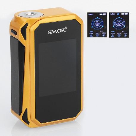 Authentic SMOKTech SMOK G-Priv 2 230W TC VW Variable Wattage Box Mod - Gold Black, Zinc Alloy, 1~230W, 2 x 18650