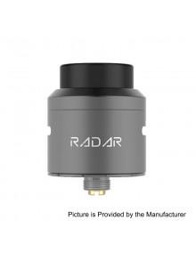 Authentic GeekVape Radar RDA Rebuildable Dripping Atomizer w/ BF Pin - Gun Metal, Stainless Steel, 24mm Diameter