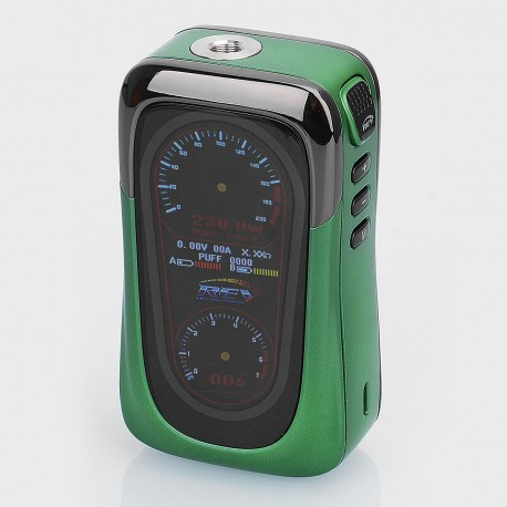Authentic REV GTS 230W TC VW Variable Wattage Box Mod - Green, 5~230W, 2 x 18650