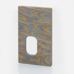 SJMY Replacement Back Cover Panel for YFTK SVA 75W Style BF Squonk TC VW Box Mod - Pattern C, G10 Fiberglass