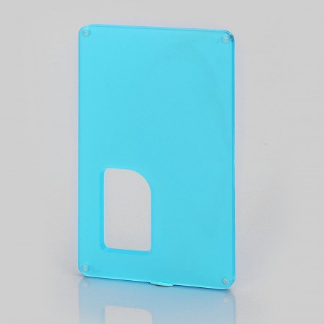 Replacement Back Cover Panel for Armageddon Style Squonk Box Mod - Blue, PC