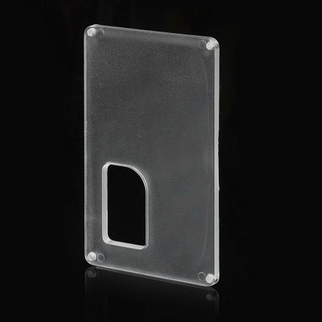 Replacement Back Cover Panel for Armageddon Style Squonk Box Mod - Translucent, PC