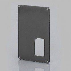 Replacement Back Cover Panel for Armageddon Style Squonk Box Mod - Black, PC
