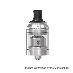 Authentic Vandy Vape Berserker Mini MTL RTA Rebuildable Tank Atomizer - Silver, Stainless Steel, 2ml, 22mm Diameter
