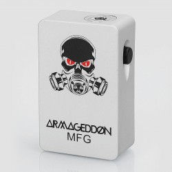 Armageddon Style Bottom Feeder Squonk Mechanical Box Mod - Silver, ABS + PC, 6ml, 1 x 18650