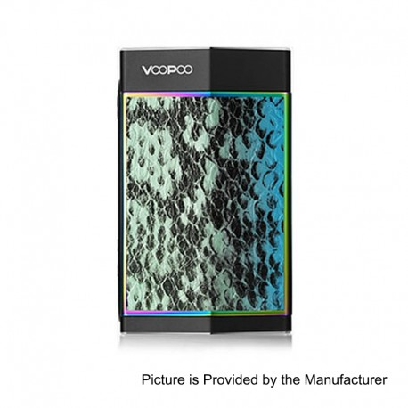 Authentic Voopoo TOO 180W TC VW Variable Wattage Box Mod - Turquoise + Black, 5~180W, 1 / 2 x 18650