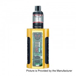 Authentic Sigelei Fuchai MT-V 230W TC VW Variable Wattage Mod + ST3 Tank Kit - Yellow, Zinc Alloy + Stainless Steel, 2 x 18650
