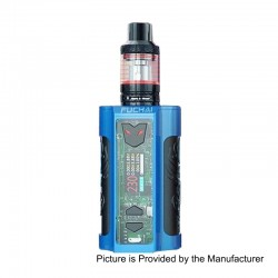 Authentic Sigelei Fuchai MT-V 230W TC VW Variable Wattage Mod + ST3 Tank Kit - Blue, Zinc Alloy + Stainless Steel, 2 x 18650
