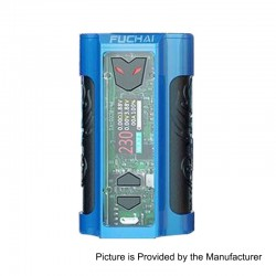 Authentic Sigelei Fuchai MT-V 230W TC VW Variable Wattage Box Mod - Blue, Zinc Alloy + Stainless Steel, 2 x 18650