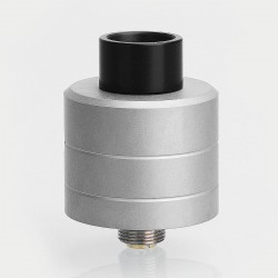 Kindbright Haku Phenom Style RDA Rebuildable Dripping Atomizer w/ BF Pin - Silver, 316 Stainless Steel, 22mm Diameter