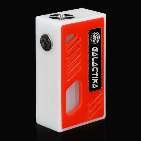Xena Style Bottom Feeder Squonker Mechanical Box Mod - White + Red, PC, 8ml, 1 x 18650
