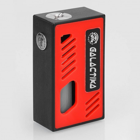 Xena Style Bottom Feeder Squonker Mechanical Box Mod - Black + Red, PC, 8ml, 1 x 18650