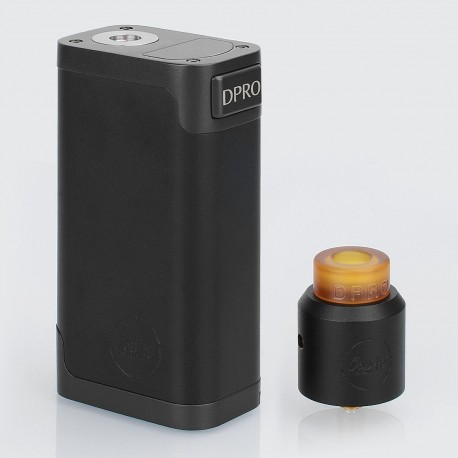 Authentic CoilART DPRO 133 Premium Kit with DPRO RDA - Black, 1 / 2 x 18650, 24mm Diameter