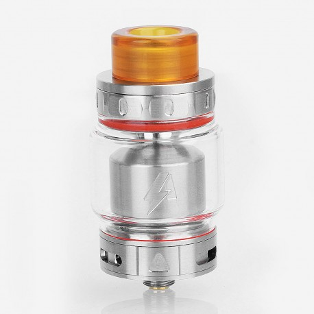 Authentic Blitz Intrepid RTA Rebuildable Tank Atomizer - Silver, Stainless Steel, 3.5ml, 24.5mm Diameter