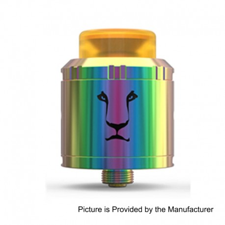 Authentic KAEES Aladdin RDA Rebuildable Dripping Atomizer w/ BF Pin - Rainbow, Stainless Steel, 24mm Diameter