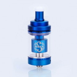 Authentic Digiflavor Siren V2 RTA Rebuildable Tank Atomizer - Blue, Stainless Steel, 4.5ml, 24mm Diameter