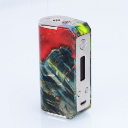 Authentic SXK Ultron Ares 70W TC VW Variable Wattage Box Mod - Random Color, Wood + Stainless Steel, 1~70W, 1 x 26650