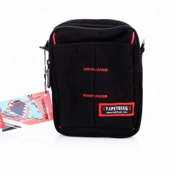 Authentic Vapethink The Dark Knight 1 Carrying Storage Bag for E-cigarette - Black + Red, Polyester, 150 x 180 x 80mm
