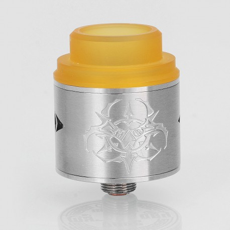 Chaos Style RDA Rebuildable Dripping Atomizer w/ BF Pin - Silver, Stainless Steel, 24mm Diameter