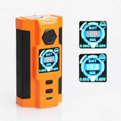 Authentic Sigelei Snowwolf Vfeng-S 230W VW Variable Wattage Box Mod - Orange, Zinc Alloy, 10~230W, 2 x 18650