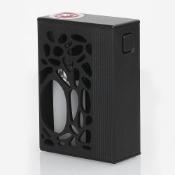 Authentic Yiloong Geyscano 75W VW Variable Wattage Squonk Box Mod - Black, Aluminum, 8ml, 1 x 18650, DNA75W Chip
