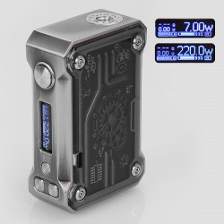 Authentic Tesla Punk 220W TC VW Variable Wattage Box Mod - Black, Zinc Alloy + ABS + PC, 7~200W, 2 x 18650