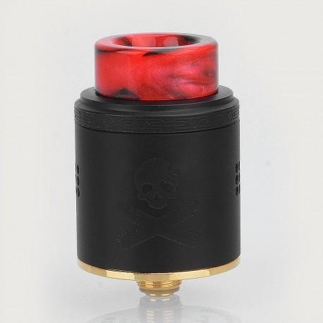 Authentic Vandy Vape Bonza RDA Rebuildable Dripping Atomizer w/ BF Pin - Black, Stainless Steel, 24mm Diameter