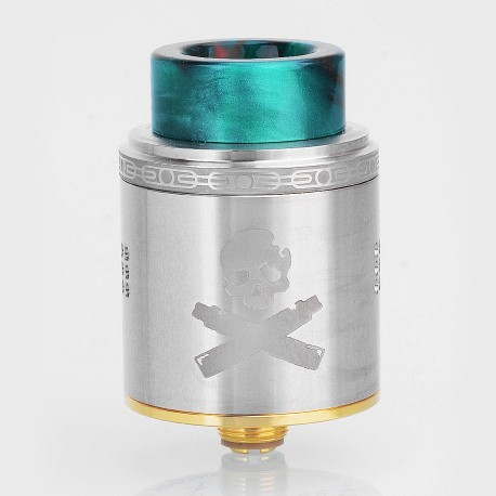 Authentic Vandy Vape Bonza RDA Rebuildable Dripping Atomizer w/ BF Pin - Silver, Stainless Steel, 24mm Diameter