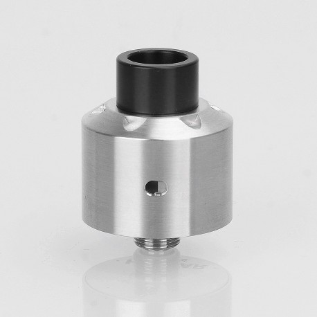 SXK Hussar Style RDA V1.0 Rebuildable Dripping Atomizer w/ BF Pin - Silver, 316 Stainless Steel, 22mm Diameter