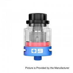 Authentic Sigelei O9 Sub Ohm Tank Atomizer - Blue, 0.2 Ohm, 2ml, 24.5mm Diameter