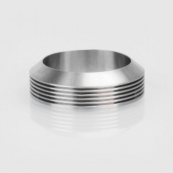 Authentic Gas Mods Decorative Ring w/ Heat Sink for 24mm Atomizer - Silver, Stainless Steel, 30mm Outer Diameter