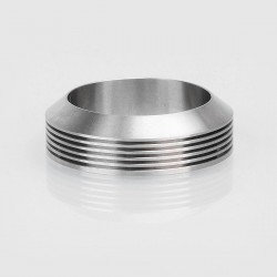 Authentic Gas Mods Decorative Ring w/ Heat Sink for 24mm Atomizer - Silver, Stainless Steel, 32mm Outer Diameter