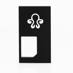 Replacement Back Cover Panel for Octopus Mods Style Squonk Box Mod - Black, Aluminum