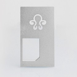 Replacement Back Cover Panel for Octopus Mods Style Squonk Box Mod - Silver, Aluminum