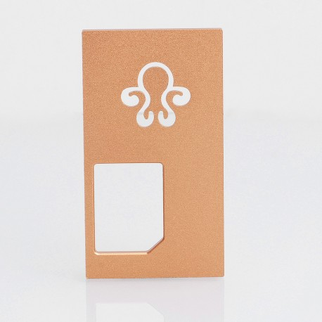 Replacement Back Cover Panel for Octopus Mods Style Squonk Box Mod - Rose Gold, Aluminum