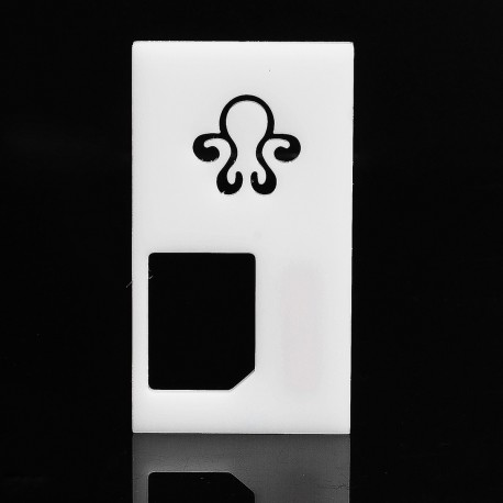 Replacement Back Cover Panel for Octopus Mods Style Squonk Box Mod - White, ABS