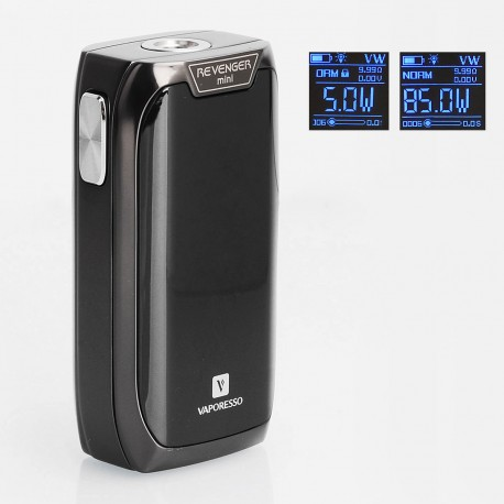 Authentic Vaporesso Revenger Mini 85W 2500mAh TC VW Variable Wattage Mod - Black, Aluminum Alloy, 5~85W