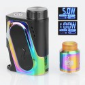 Authentic IJOY Capo 100W 3000mAh Squonk Box Mod + Combo RDA Kit - Rainbow, 1 x 18650 / 20700 / 21700, 25mm Diameter