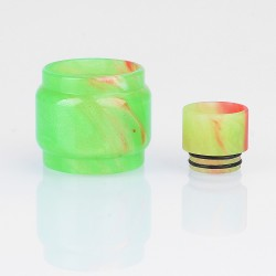 Authentic Iwodevape Replacement Drip Tip + Tank Tube Kit for SMOK TFV12 Prince Tank - Green, Epoxy Resin (2 PCS)