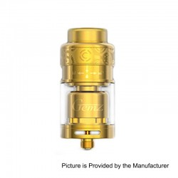Authentic Gemz Prime Mover RTA Rebuildable Tank Atomizer - Gold, Stainless Steel, 3ml, 24mm Diameter