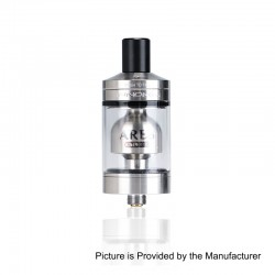 Authentic Innokin Ares MTL RTA Rebuildable Tank Atomizer - Silver, Stainless Steel, 5ml, 24mm Diameter