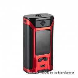 Authentic Wismec SINUOUS RAVAGE230 200W TC VW Variable Wattage Box Mod - Black + Red, 1~200W, 2 x 18650