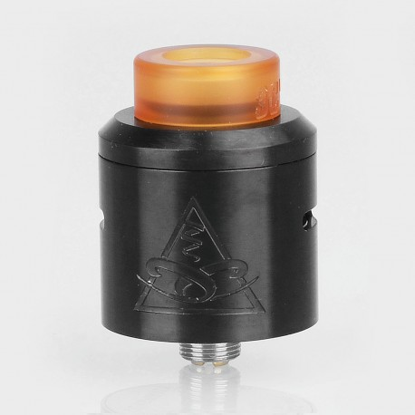 Conspiracy Style RDA Rebuildable Dripping Atomizer w/ BF Pin - Black, Stainless Steel, 24mm Diameter