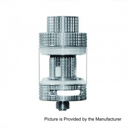 Authentic FreeMax Fireluke Mesh Sub Ohm Tank Atomizer - Silver, 0.15 Ohm, 3ml, 24mm Diameter