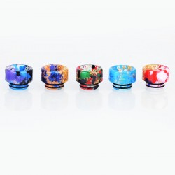 810 Replacement Wide Bore Drip Tip for TFV8 / TFV12 Tank / Goon / Reload / Apocalypse RDA - Random Color, Resin, 13mm