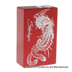 Authentic Steel Vape Phoenix Mechanical Bottom Feeder Squonk Box Mod - Red, Aluminum, 7.5ml, 1 x 18650 / 20700
