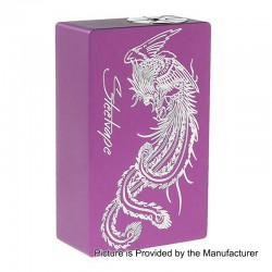 Authentic Steel Vape Phoenix Mechanical Bottom Feeder Squonk Box Mod - Purple, Aluminum, 7.5ml, 1 x 18650 / 20700